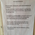 May 17 2015 Trash Rules Posted